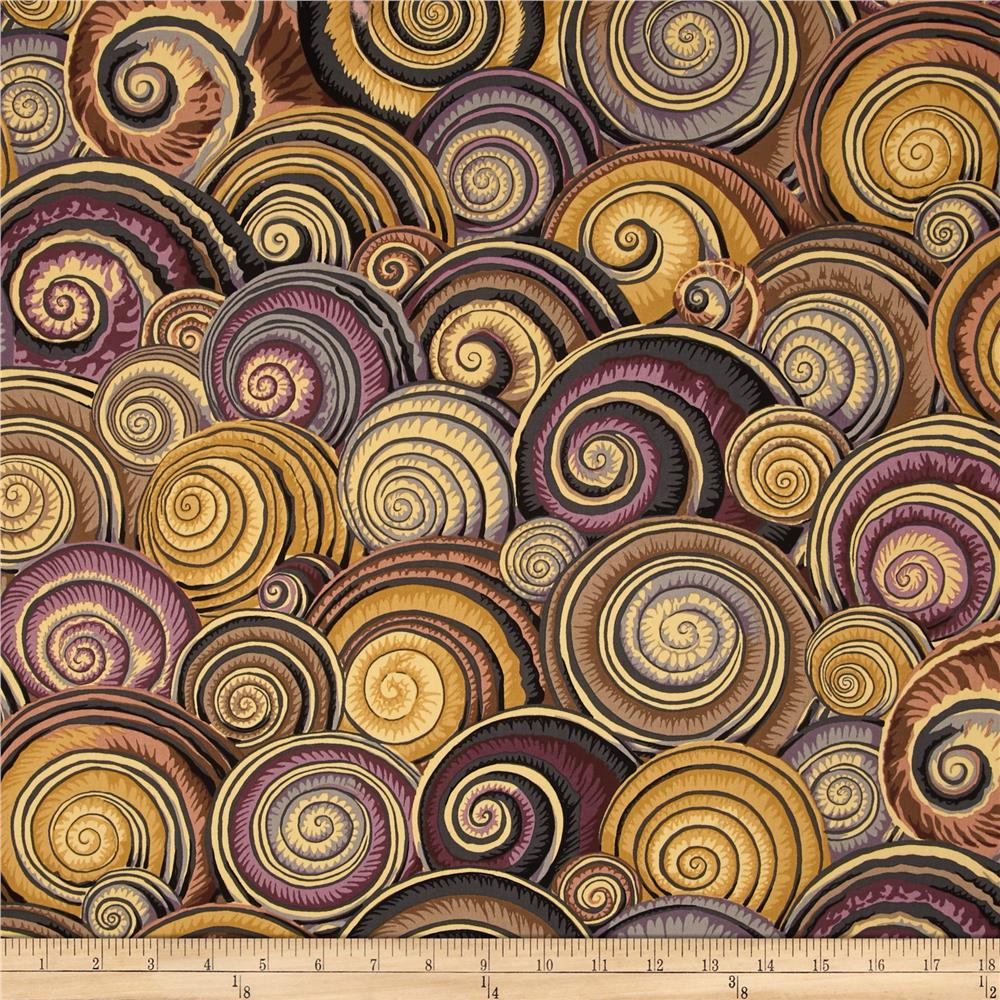 Kaffe Fassett Sateen Spiral Shells Brown Discount
