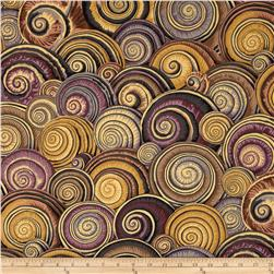 Kaffe Fasset Sateen Spiral Shells Brown