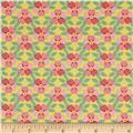 North Dakota State Flower Wild Prairie Rose Orange/Pink/Green