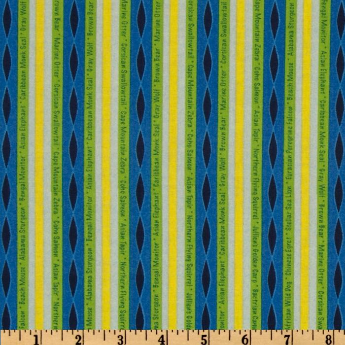 Circle Of Life Stripes Lime/Blue