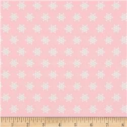 Moda Sugar Plum Christmas Snow Flakes Sugar Plum Pink