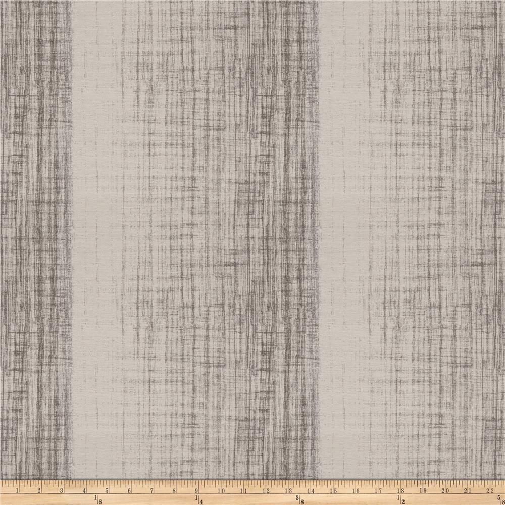 Fabricut Showbox Stripe Faux Silk Charcoal