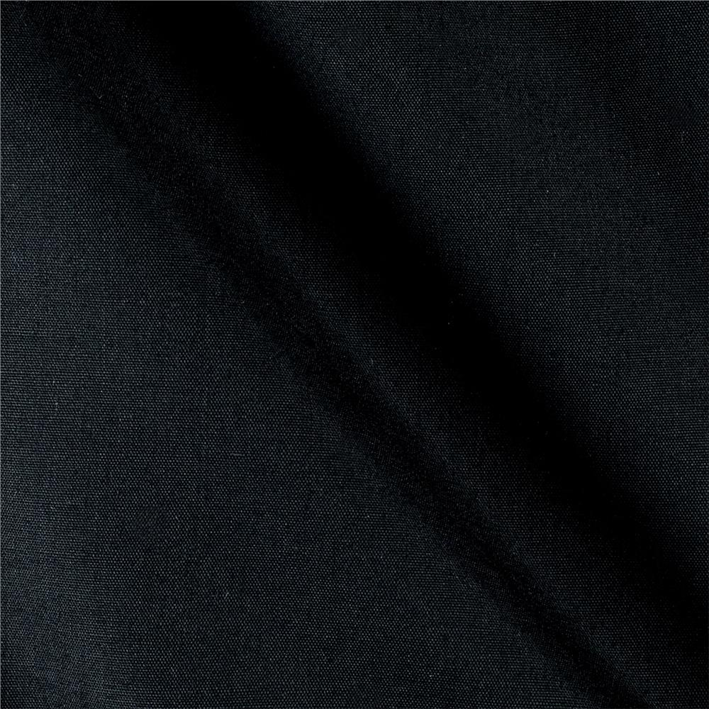 60'' Poly Cotton Broadcloth Black Fabric By The Yard