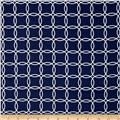 Metro Living Interlocking Circles Navy