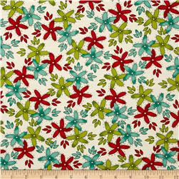 Moda Hometown Girl Stitched Garden Cloud