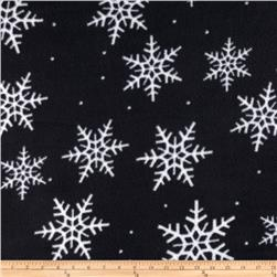 Snowflakes Fleece Black