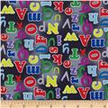 Alphabet Friends Letters Black