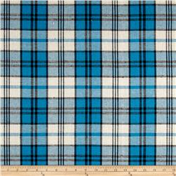 Yarn Dyed Plaid Flannel Blue/Black/Cream
