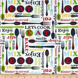 Kaufman Let's Eat Utensild & Words Multi