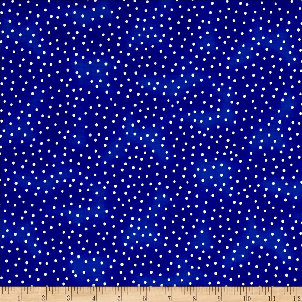 Loralie Designs Sew Creative Dinky Dot Blue White