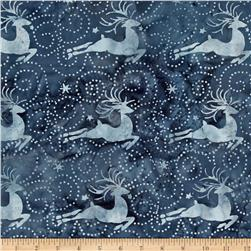 Island Batik Tinsel Deer Blue