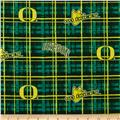 Collegiate Cotton Broadcloth University of Oregon Plaid Green