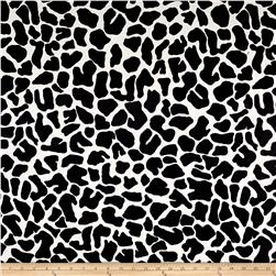 Cow Print Pique Black/White