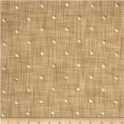 Tempo Faux Linen Embroidered Dot Linen Fabric
