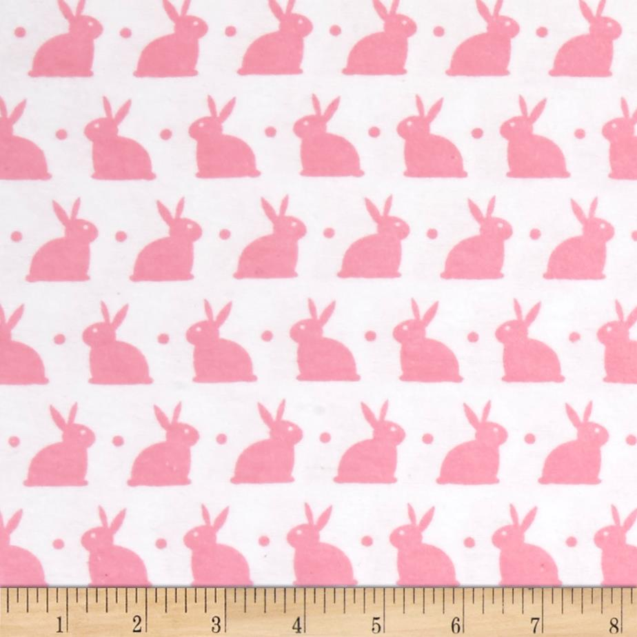 Dreamland Flannel Bedtime Bunny Pink White/Pink Carnation