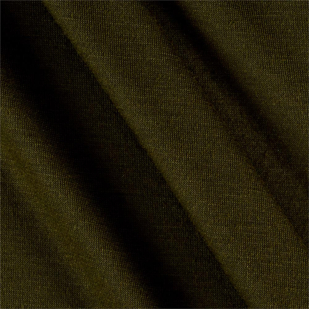 Polyester Jersey Knit Solid Olive Fabric By The Yard