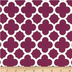 Riley Blake Medium Quatrefoil Burgundy Fabric