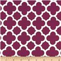 Riley Blake Medium Quatrefoil Burgundy