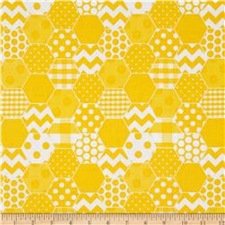 Riley Blake Hexi Print Yellow