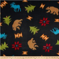 Fleece Print Daniel Boone Black