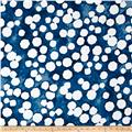 "Kaufman Black & White 108"" Wide Big Dots Indigo"