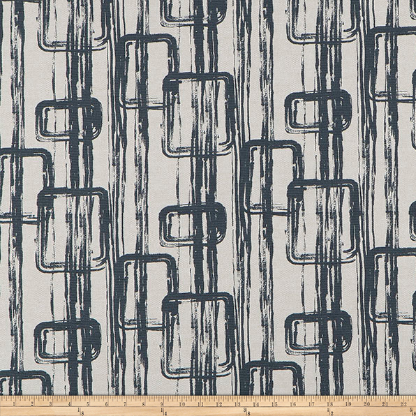 Image of Scott Living Link Basketweave Steel Work Belgian Fabric