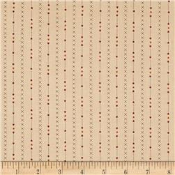 Heritage Hollow Star Stripe Ecru Fabric