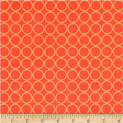 Moda Sundrops Circled Dark Coral
