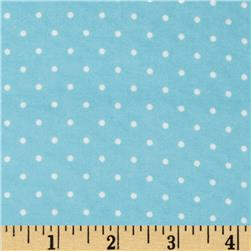 Cozy Cotton Flannel Mini Dots Aqua Fabric