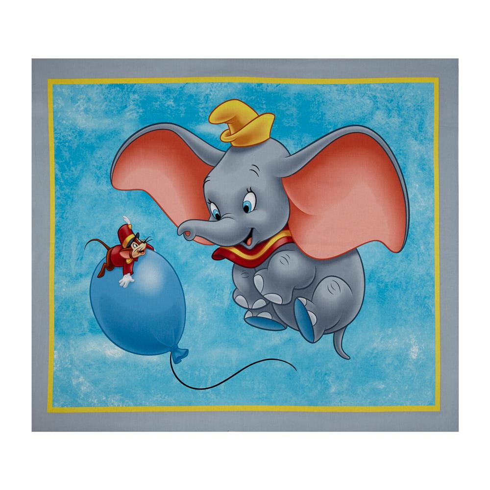 "Disney Dumbo And Balloon 36"" Panel Blue"
