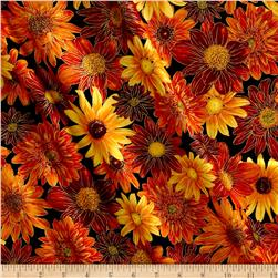Kanvas Autumn Splendor Metallic Floral Bounty Black