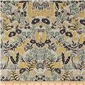 Cotton + Steel Rifle Paper Co. Menagerie Metallic Canvas Tapestry Natural