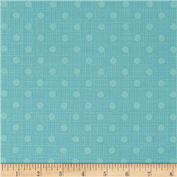 Moda Wing & Leaf Dotty Screen Robin's Egg