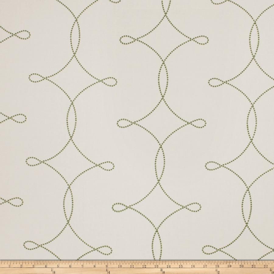 Fabricut Embroidered Sheryl Interlock Kelly Green