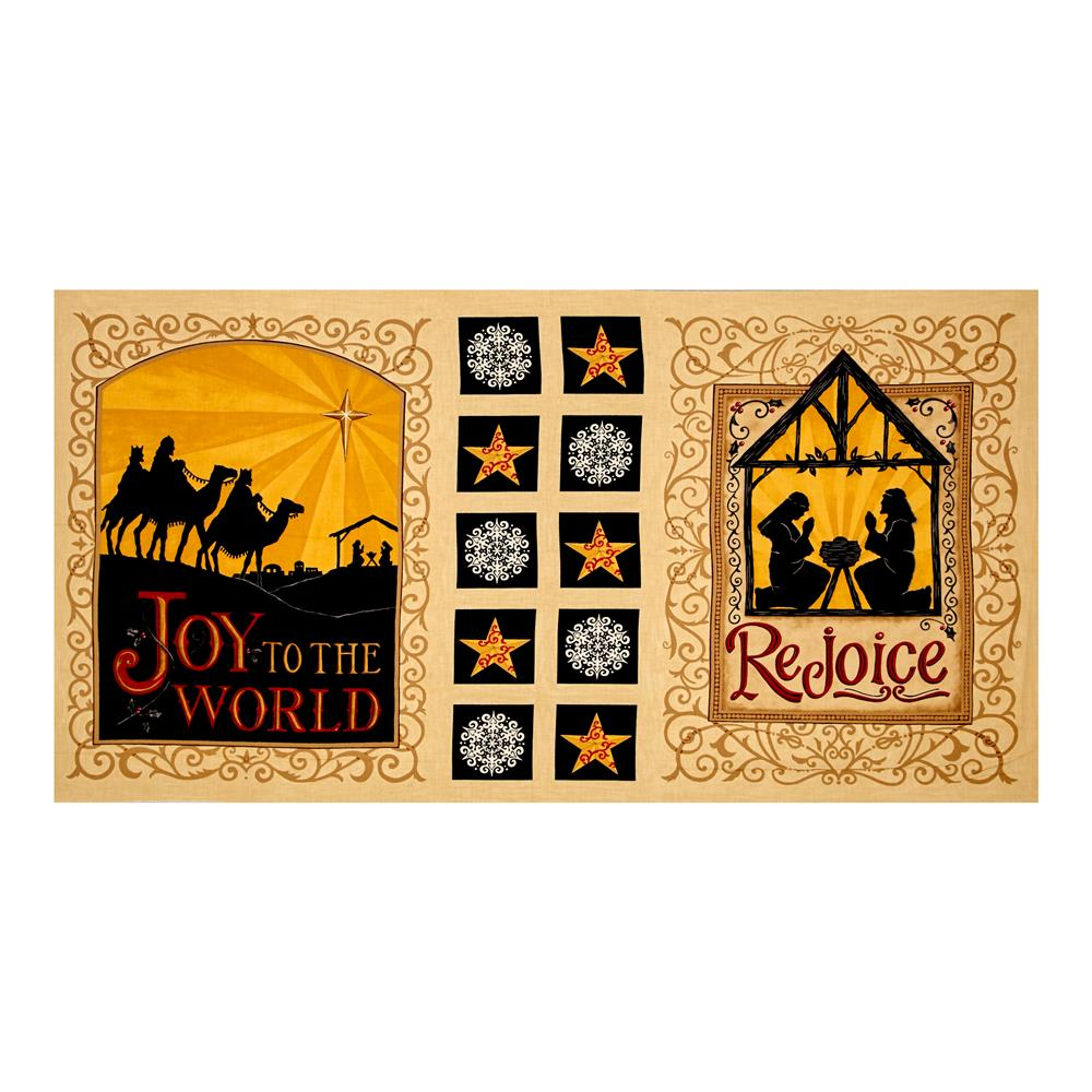 Moda Rejoice In The Season 22 In. Panel Parchment Fabric By The Yard