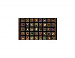 Creepy Hollow Halloween Patches 24 In. Panel Black