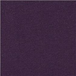 Basic Cotton Rib Knit Royal Purple