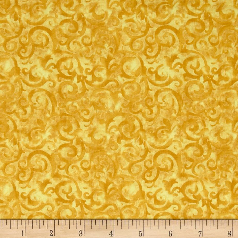 Rainforest scroll gold discount designer fabric for Fabric purchase