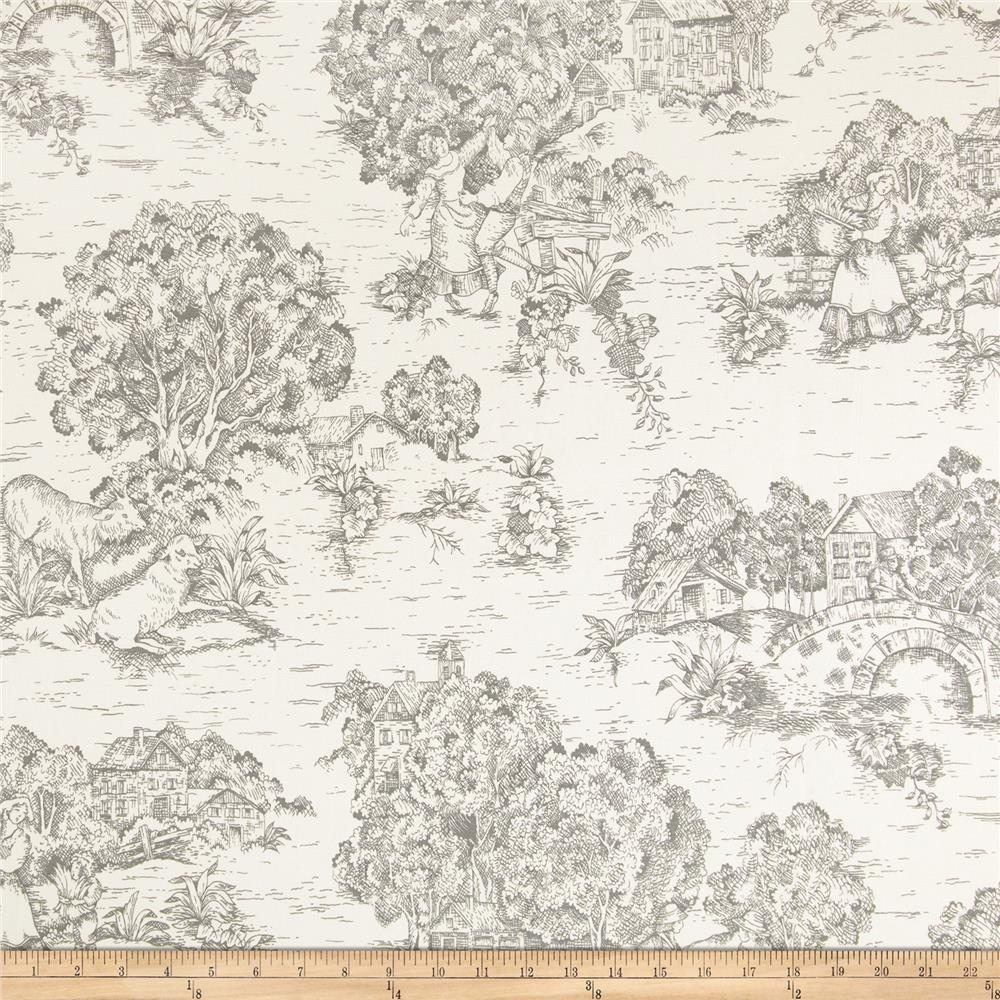 Pastoral Toile Ivory/Charcoal