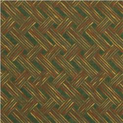 Moda Timber Trail Flannel Herringbone Spruce Green