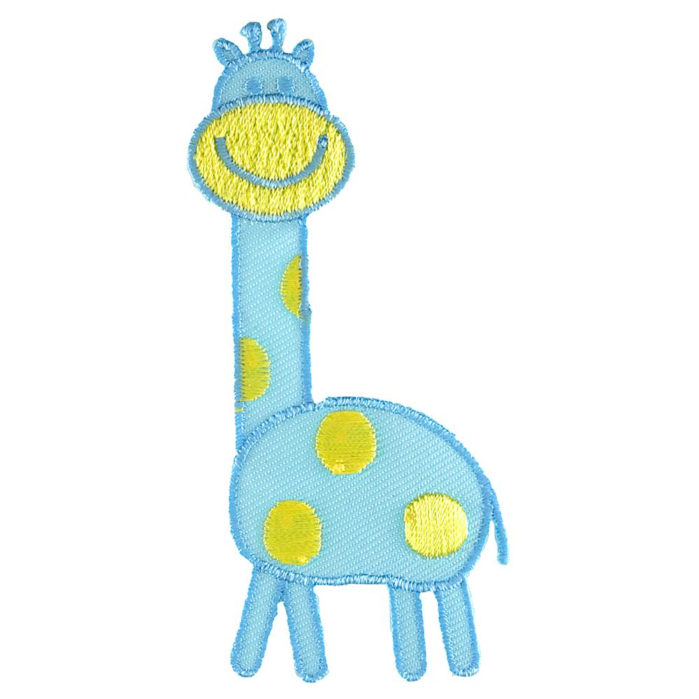 Giraffe Applique Blue