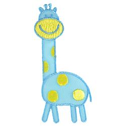 Giraffe Applique Blue/Yellow