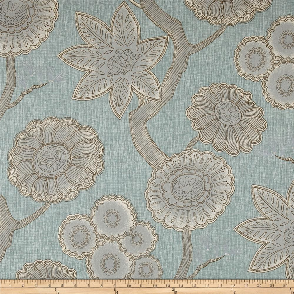 P kaufmann gloss chintz spa discount designer fabric for Chintz fabric