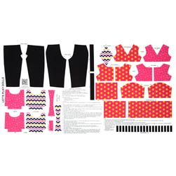 Lets Play Dolls Everyday Play Outfit Panel Pink