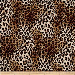 Quilted Knit Tiny Cheetah Black/Brown/Khaki