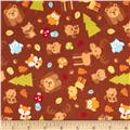 Riley Blake Happy Camper Flannel Main Brown