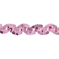 Team Spirit #50 Sequin Trim Dark Pink