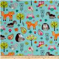 Woodland Gypsy Collage Aqua