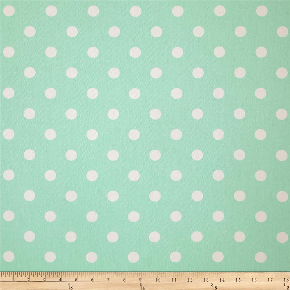 Premier Prints Polka Dot Twill Mint