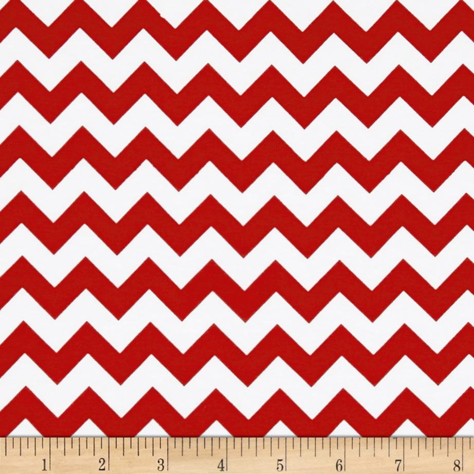 Riley Blake Knit Chevron Small Red - Discount Designer Fabric ...